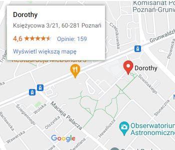 Salon Dorothy na mapie